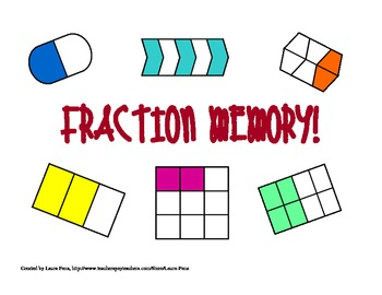 Fraction Memory! Math Center Game and Activity