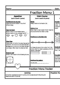 Fraction Menu (Bundle Pack)