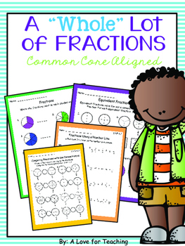 """A """"Whole"""" Lot of Fractions {Common Core Aligned + Digital}"""