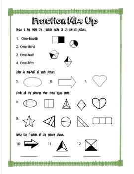 Fraction Mix Up Worksheet