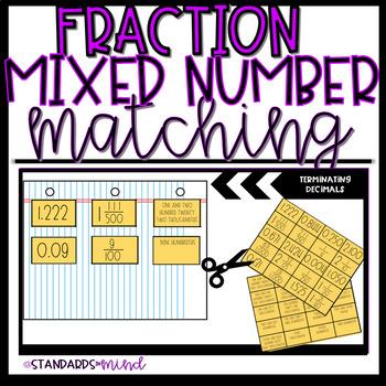 Fraction Mixed Number Decimal Sort
