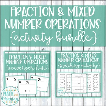 Fraction & Mixed Number Operations Activity Mini-Bundle