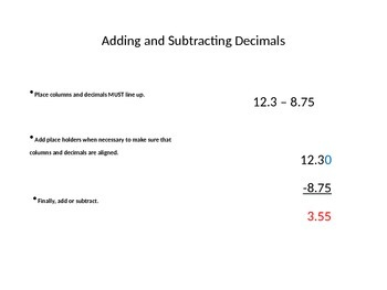 Fraction, Mixed Number, and Decimal Study Guide