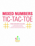Fraction (Mixed Numbers) Review Game - Partner Activity Ti