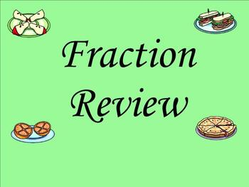 Fraction Mixed Review - Smartboard