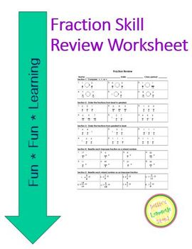 Fraction Mixed Review Worksheet by Debbie's Lemonade Stand ...