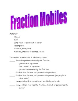 Fraction Mobile Requirements Sheet