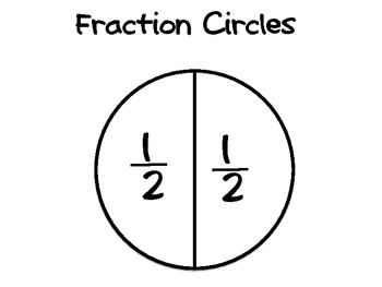 Fraction Area Model Manipulatives (bars and circles) in Color and B&W!