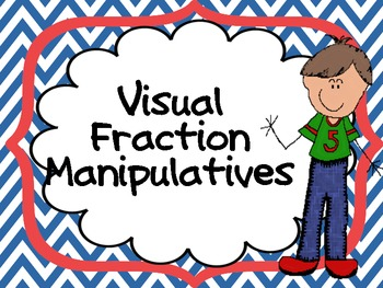 Fraction Area Model Manipulatives (bars and circles) in Co