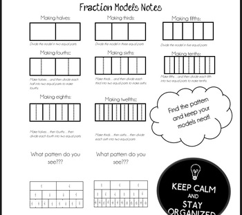 Fraction Models- Compare Fractions/ Equivalent