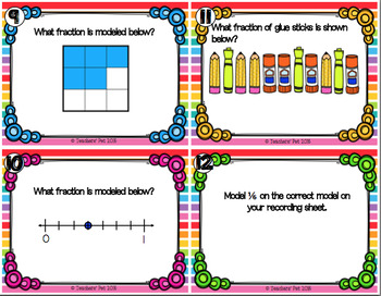 Fraction Models Task Cards and Game