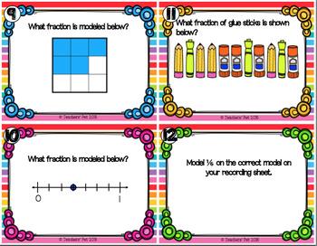 Fraction Models Task Cards and Game