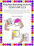 Fraction Monkey Around Matching Game CCSS3.NF.1.2.3