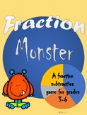 Fraction Monster - A fraction subtraction game for grades 3-6