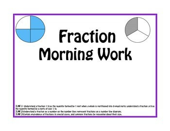 Fraction Morning Work