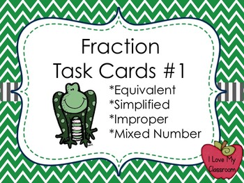 Fraction Multiple Choice Task Cards (Frog)