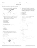 Fraction Multiple Choice Test