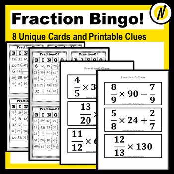 photo regarding Addition Bingo Printable called Portion Multiplication, Addition and Subtraction Exciting Bingo Analyze Activity