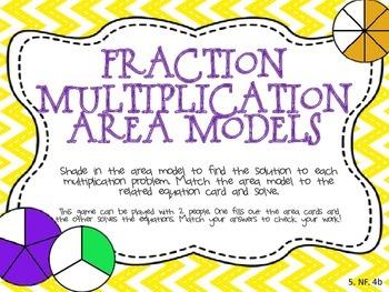 Fraction Multiplication Area Model Sort