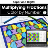 Multiplying Fractions Color by Number Distance Learning