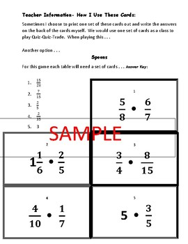 Fraction Multiplication Cooperative Learning Game