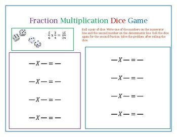 Fraction Multiplication Dice Game