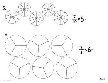 Fraction: Multiplication Fill In