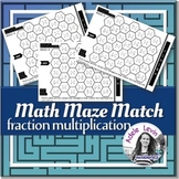Fraction Multiplication (MATH MAZE MATCH)