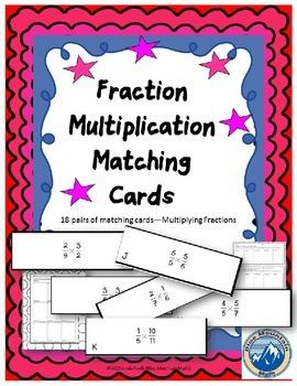 Fraction Multiplication Matching Card Set