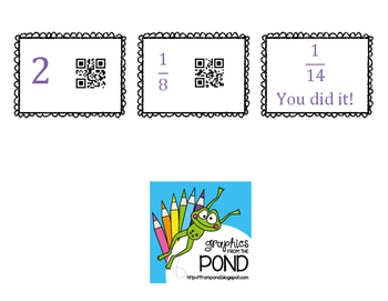 Fraction Multiplication QR Scavenger Hunt