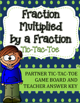Fraction Multiplication Tic-Tac-Toe Game: Fraction Multiplied by a Fraction