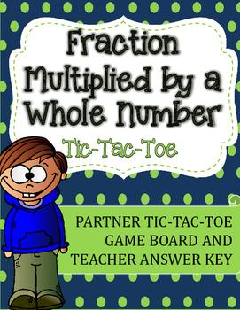 Fraction Multiplication Tic-Tac-Toe Game: Fraction Multipl