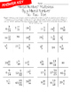 Fraction Multiplication Tic-Tac-Toe: Mixed Number Multiplied by a Mixed Number
