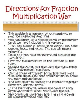 Fraction Multiplication Activities