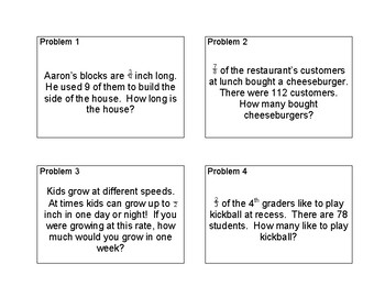 Fraction Multiplication Word Problems