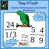 Fractions Multiplication and Division Worksheets with Story Problems