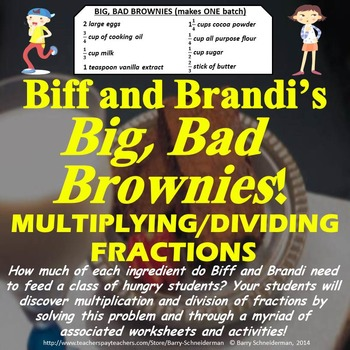 Multiplying and Dividing Fractions Unit: Real World Problems, Notes, Worksheets