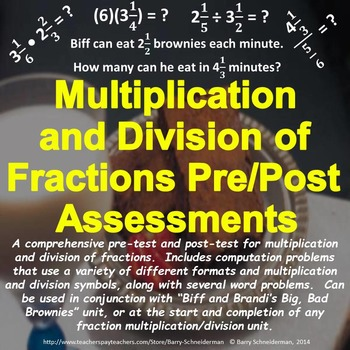 Multiplying and Dividing Fractions: Pre- and Post-Assessments