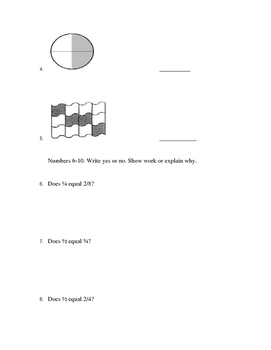 Fraction, Multiplication, and Division Test