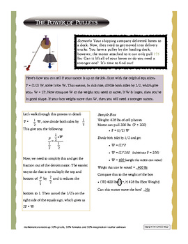 Fraction Multiplication and Division using Real Life Examples with Pulleys