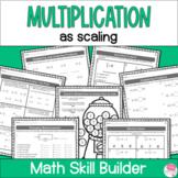 Fraction Multiplication as Scaling Worksheets