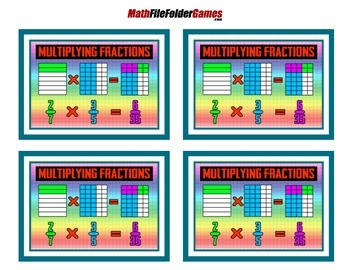 Fraction Multiplications = Poster/Anchor Chart with Cards for Students