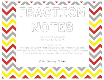 Fabulous 5th Grade Fraction Notes