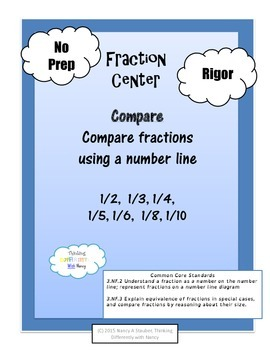 Fraction Number Bonds and Number Lines
