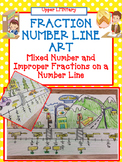 Fraction Number Line Art Activity Part2 -Improper Fraction