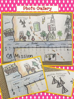 Fraction Number Line Art CALIFORNIA MISSIONS