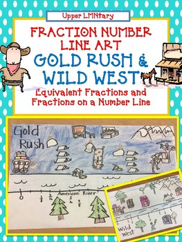 Fraction Number Line Art GOLD RUSH and WILD WEST