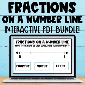 Fraction Number Line Interactive PDF Task Cards