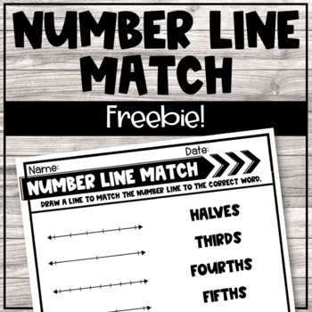 Fraction Number Line Matching Activity