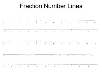 Fraction Number Line Mixed Numbers to 11